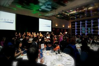 Performing a corporate event at the Sheraton Wall Centre for City in Focus